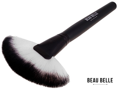 Beau Belle Pinceau Fan - Fan Brush - Pinceau Illuminateur - Pinceau Maquillage - Pinceau Visage - Blush Pinceau - Applicateur Poudre - Accessoire Maquillage - Pinceaux Blush Maquillage - Accessoire Beauté - Pinceau Maquillage Teint