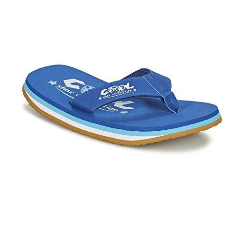 Cool Shoes Original Pi FEDERAL , Blau Flip Flops Sandalen Zehentrenner Strandlatschen Badeschlappe Bleu