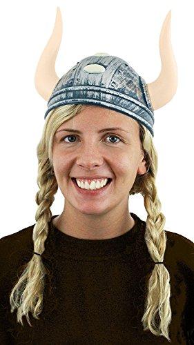 Viking Helm Kostüm Zubehör Damen Nordic Warrior Mittelalter nordischen Göttin Hat mit ()