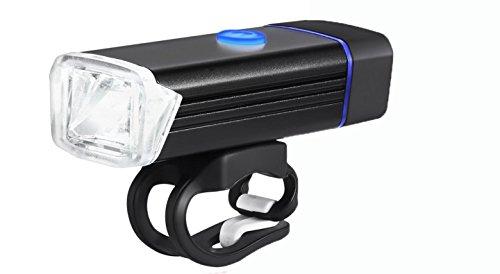 Wiederaufladbare Fahrrad Licht Vorne - 300 Lumen Fahrrad Licht, Fahrrad Zubehör Fahrrad Scheinwerfer, Fahrrad LED Licht, 4 Licht Modi, Wasserdicht [Schwarz]