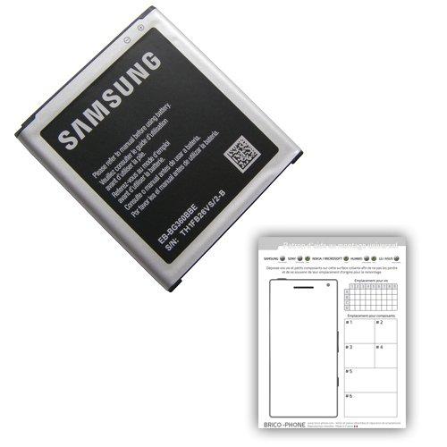 Batteria originale per Samsung Galaxy Core Prime Prime/Core Duos/Core Prime VE per i modelli SM-SM-G360F/G360/SM-G361F Cartamodello con carta di aiuto per il montaggio incluso
