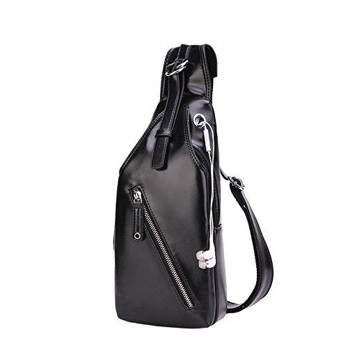 ProProCo™ Leder brusttasche brustbeutel sling-beutel cross-body bag handtasche Outdoor Sport Messenger Bag (Sling-schulter-beutel Messenger Bag,)