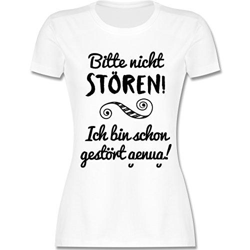 Sprüche - Bitte Nicht stören! - L - Weiß - L191 - Damen Tshirt und Frauen T-Shirt