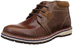 Red Tape Mens Tan Leather Boots - 9 UK/India (43 EU)