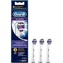 Oral-B 3D White - Set de 3 cabezal recambios para cepillo de dientes recargable, blanqueamiento diente por diente