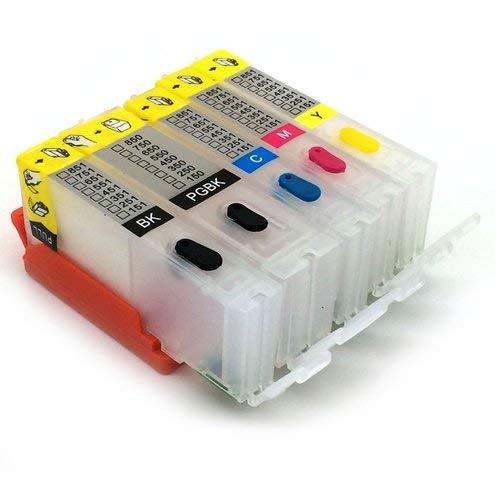 PGI 550 CLI 551-5 cartuchos de tinta recargables para Canon Pixma IP7250, IP8750, IX6850, MG5450, MG5550, MG6350, MG6450, MG7150, MX725, MX925, MG7550, MG6650 y MG5650