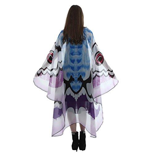 tterlings Flügel Schal Pixie Weihnachten Halloween Cosplay Kostüm Zusatz faschingskostüme Tanzendes Kostüm Butterfly wings cape (Purple ,185*145CM) (Herren Halloween-kostüme Der 1920er Jahre)