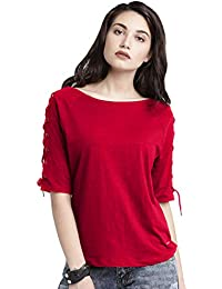 DHRUVI TRENDZ Women's Plain Lycra TOP (T-1118)