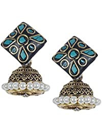 Anetra Chand Bali Earrings for Women (Black)(ads_022)