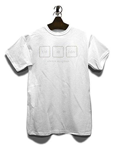 Crtl Alt Delete Always An Option Vintage T-Shirt Weiß