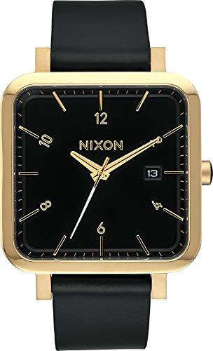 Nixon Herren Analog Quarz Uhr mit Leder Armband A985-513-00