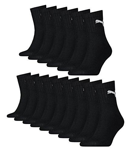 Black Crew Socken (PUMA Unisex Short Crew Socken Sportsocken mit Frotteesohle 15er Pack black 200 - 47/49)