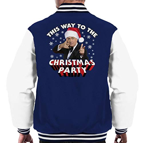 (Coto7 Tom Hanks This Way to The Christmas Party Men's Varsity Jacket)