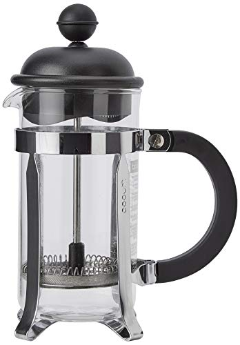 Bodum 1913-01 CAFFETTIERA Kaffeebereiter (French Press System, Permanent Edelstahlfilter, 0,35 liters) schwarz
