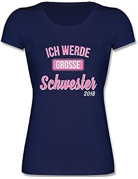 Shirtracer Geschwisterliebe Kind - Ich Werde Große Schwester 2018 - Mädchen T-Shirt