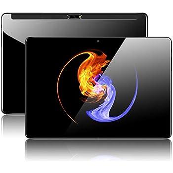 Padgene 10.1 Tablet PC Android Quad Core HD con WiFi Bluetooth 4.0 GPS 1280*800 2MP 5MP Ranuras Dual para Tarjeta SIM (10.1 2+5MP, Negro 1+32GB)