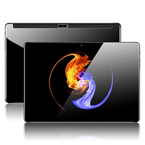 "Tablet 10 Zoll Android mit Dual Simkarten Slot PADGENE 1280x800 Quad Core CPU Google Tablet PC Dual Kamera WiFi/3G Entsperrt Bluetooth GPS Telefonfunktion(10.1\"", Glas Bildschirm 1GB/32GB Schwarz)"