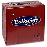 Bulky Soft BS 32029Niveau Serviettes pliage 1/4, 3couches, 40cm x 40cm, bordeaux ()