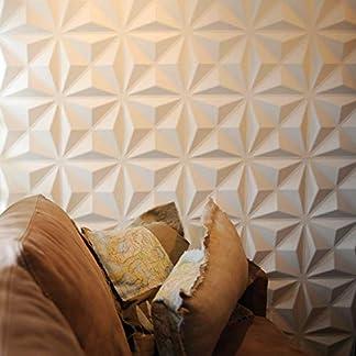 Revestimiento De Paredes 3D Lasse 3m² | 12 Paneles Decorativos 3d de 50x50cm | Paneles Decorativos Para Pared WallArt, Papel Pintado 3d | Friso Para Pared, Paneles Acusticos, Panel De Pared 3d