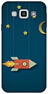 The Racoon Lean space cowboy hard plastic printed back case for Samsung Galaxy E5
