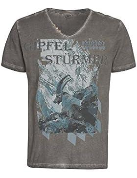 Distler Modisches Herrenshirt Gipfelstürmer T-Shirt,Trachten,trachtlich,Männer,Kurzarm,Wiesn