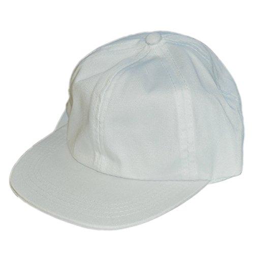 Kinder Schirmmütze - Piccolino Baseball Mütze aus Baumwolle weiß zum Bemalen