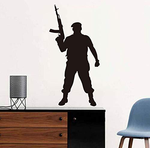 Marine Corps Applique (Wandtattoo Vinyl Applique Marine Corps Military Krieg Soldat Wandaufkleber Schlafzimmer Wohnkultur 43x87 cm)