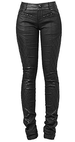 Pantaloni con decorazioni cranes nero e sul lato K-167 Punk Rave nero 2XL