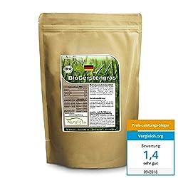Nurafit BIO Gerstengras Pulver   Smoothie-Pulver aus deutschem Anbau   1000g / 1kg zertifizierte Spitzenqualität   Für Shakes mit Vitaminen, Mineralstoffen und Spurenelementen