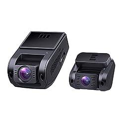 AUKEY Dashcam Dual 1080P Front und Rück Autokamera 170 Grad Weitwinkel, Superkondensator, WDR Nachtsicht Dash Cam mit G-Sensor, Bewegungserkennung, Loop-Aufnahme und Dual-Port Kfz-Ladeger