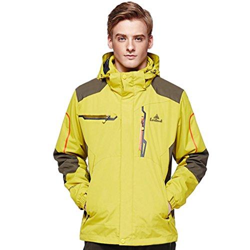HHORD Soft Shell Jacken Ski Jacke Anti-Pille FleeOutdoorwear Herren 3-in1-zweiteilige wasserdichte atmungsaktive isoliert Lightweight Mountaineering Jacke , 1# , 2xl (Schädlingsbekämpfung Kostüm)