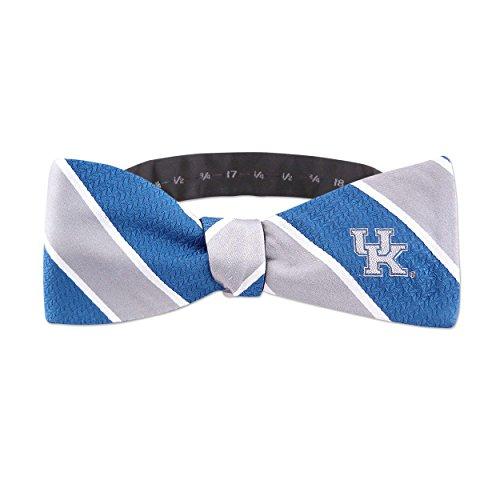 ZEP-PRO NCAA Herren Gewebte Seide Streifen Logo Fliege 1, Herren, UKY-Bow-STRP1, königsblau, Einheitsgröße -