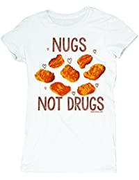 David and Goliath Womens T-shirt - Nugs Not Drugs - White