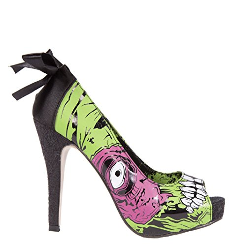 Stomper Zombie (Iron Fist Shoes - Zombie Stomper Platform UK 3 / Green)