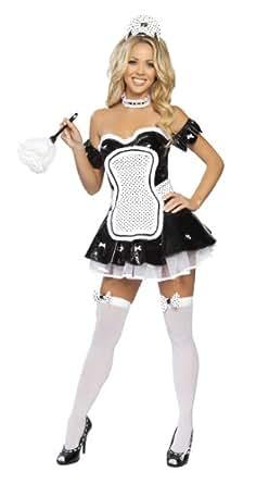costume sexy deguisement soubrette serveuse vinyl neuf