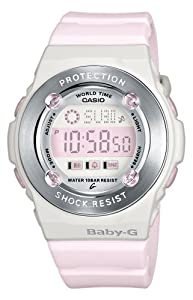 Casio BG-1301-4ER - Reloj digital de mujer de cuarzo con correa de resina rosa (cronómetro, alarma, luz) - sumergible a 100 metros de Casio