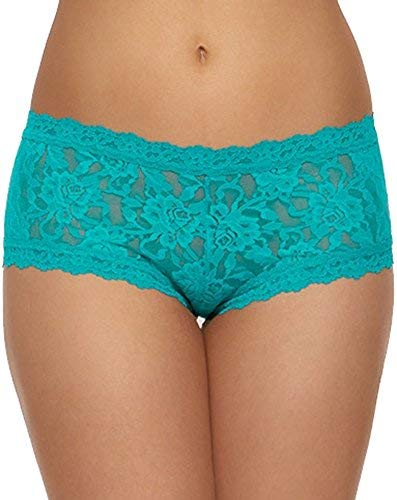 Hanky Panky Womens Signature Lace Boyshort, Maui Blue, Size Large -