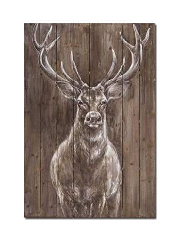 Wowdecor Art Wand Moderne Leinwand Prints Gemälde-Deer Animal Art Bilder auf Leinwand Gedruckt, Wanddekoration für Home Wohnzimmer Schlafzimmer-Gerahmt, Large (Picture Collage Für Die Wand)