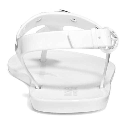 Michael Kors Michael Plate Jelly Sandal Optic White