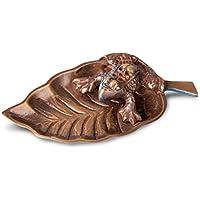 Räucherstäbchenhalter Stäbchenhalter Frosch auf Buchenblatt 10 cm lang aus Messing, Halter zum Räuchern von Räucherstäbchen... preisvergleich bei billige-tabletten.eu