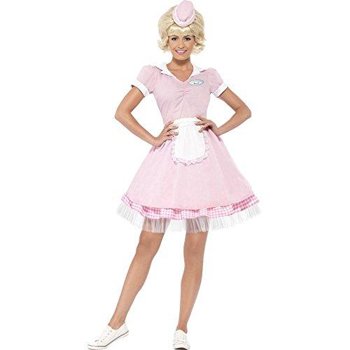 50er Jahre Damen Kostüm Diner Servicekraft Karneval Fasching Gr.M (50's Diner Halloween Kostüme)