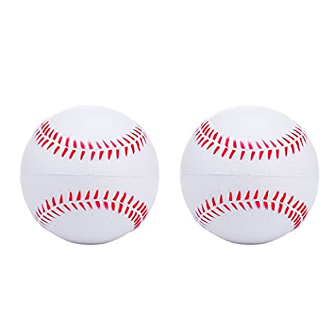 niceEshop(TM) 2 Stück Schaum Baseball Bälle Reduzierte Schlag Sicherheit Softball