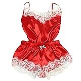 VECDY Frauen UnterwäSche Mode Sexy Lace Sleepwear Dessous Versuchung Babydoll UnterwäSche Nachthemd Einfarbig Tops Kleiden