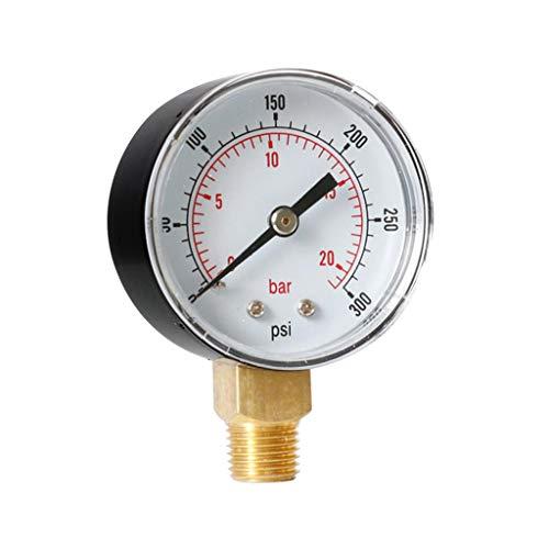 B Baosity Manómetro Presión De Aire Medidor De Presión De Agua 0-300PSI 0-20Bar