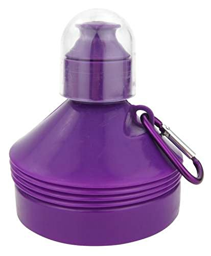 Gourde rétractable 500ml avec mousqueton - Violet