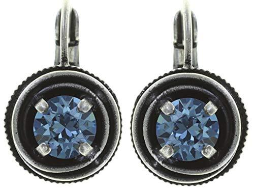 CAGES Ohrhänger | KONPLOTT - Exklusiver Designer-Modeschmuck mit Swarovski Elements | Ohrring mit Glitzer-Steinen | Ohrring für Damen in Weiß, Rosé, Blau, Grün