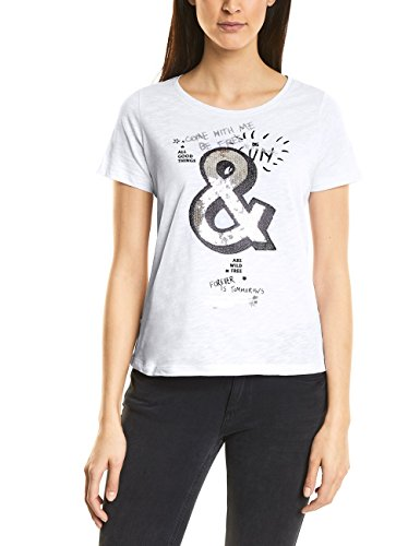 Street One T-Shirt Donna Mehrfarbig (White 30000)