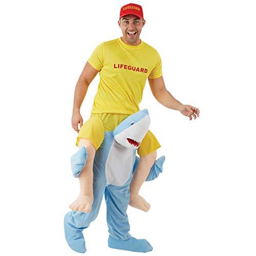 Kostüm Hai Männliche - Fun Shack Herren Costume Kostüm, hai, Einheitsgröße