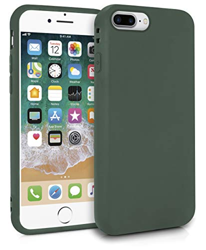 MyGadget Robuste Silikon Hülle TPU Case für Apple iPhone 7 8 Plus - Matte Schutzhülle Silikonhülle Back Cover Ultra Kratzfest - Slim Handyhülle Olivgrün -