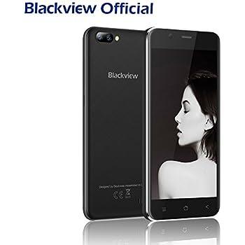 Telephone Pas Cher, Blackview A7 Android 7.0 Smartphone Pas Cher-Dual Appareil Photo 5MP+0.3MP Arrière-5.0 Pouces HD 1280*720 Ecran-8GO ROM-2800mAh-3G Téléphone Portable Débloqué Sans Forfait